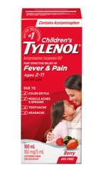 Children's Tylenol for Fever & Pain packaging