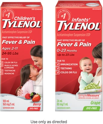 Children's Tylenol for Fever & Pain and Infants' Tylenol for Fever and Pain