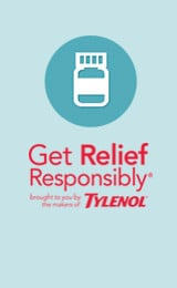 Small Get relief responsibly by Tylenol icon