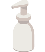 Hand soap container icon