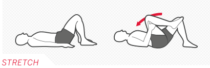 Back stretching diagram