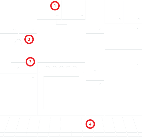 Kitchen diagram for mobile