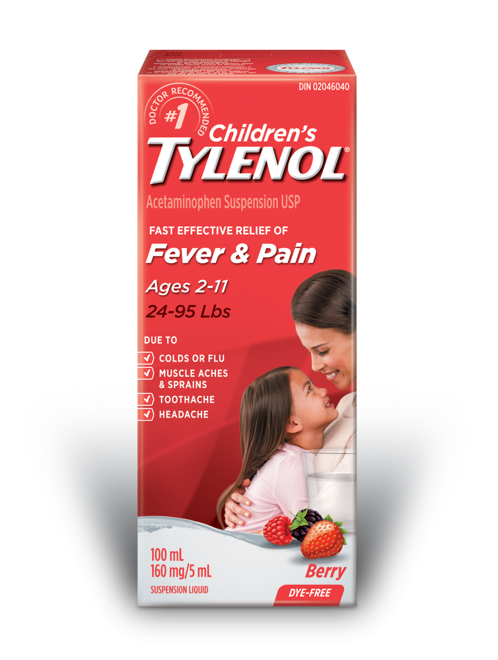 Children's TYLENOL® Fever & Pain Berry
