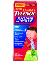 TYLENOL® Rhume et toux, pour enfants, Nuit