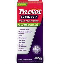 Sirop TYLENOL® Complet Rhume, toux et grippe Plus anti-mucosités