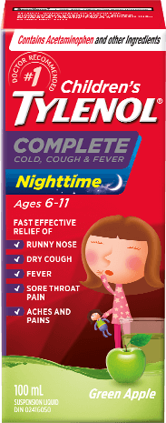 Children's TYLENOL® Complete Cold, Cough & Fever Nighttime Apple