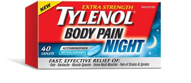 Extra Strength TYLENOL® Body Pain Nighttime