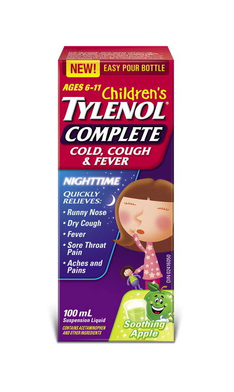 Children S Tylenol 174 Complete Cold Cough Amp Fever Nighttime