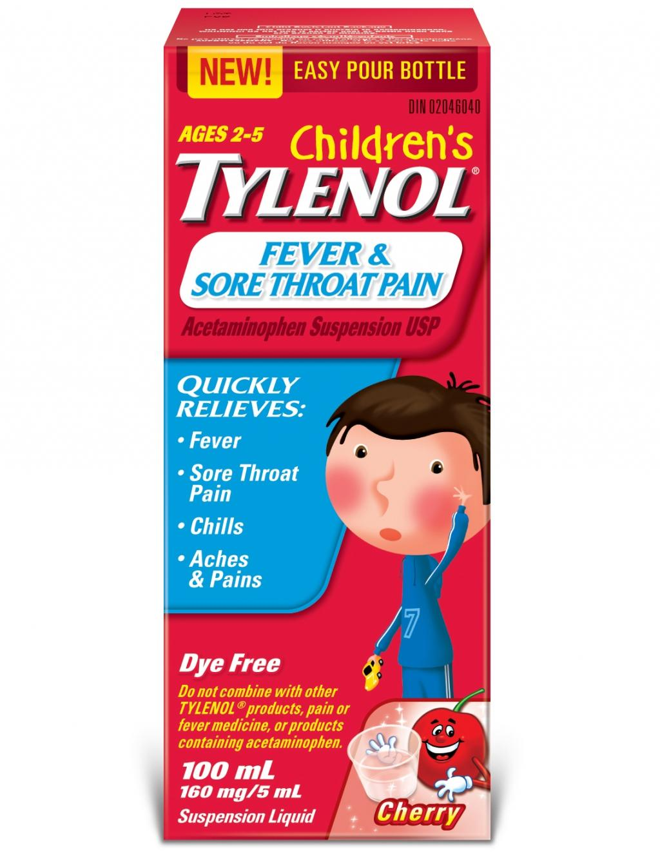 Children's TYLENOL® Fever & Sore Throat Pain
