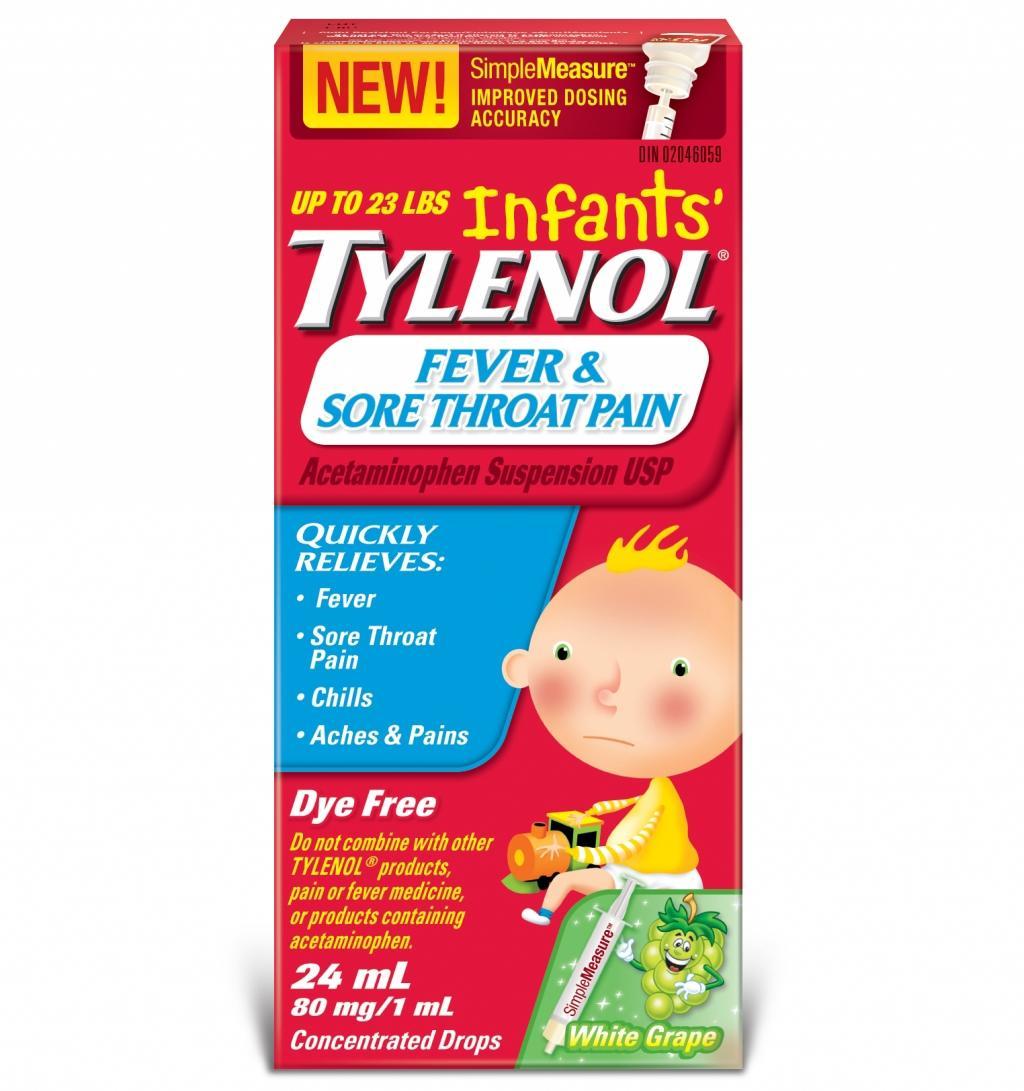Infants' TYLENOL® Fever & Sore Throat Pain White Grape