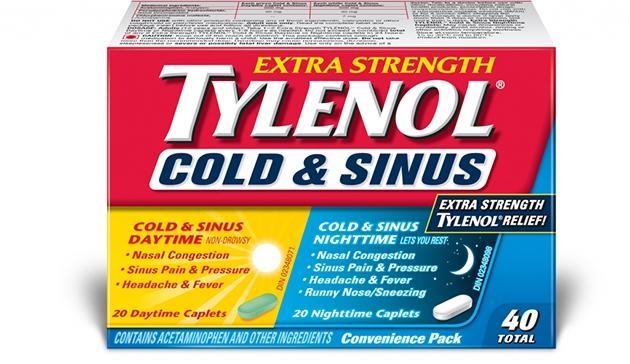 Extra Strength TYLENOL® Cold & Sinus Daytime & Nighttime