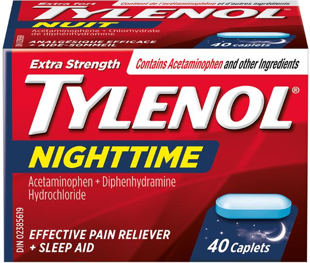 Extra Strength TYLENOL® Nighttime, 40 caplets