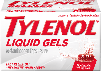Tylenol Liquid Gels Packaging