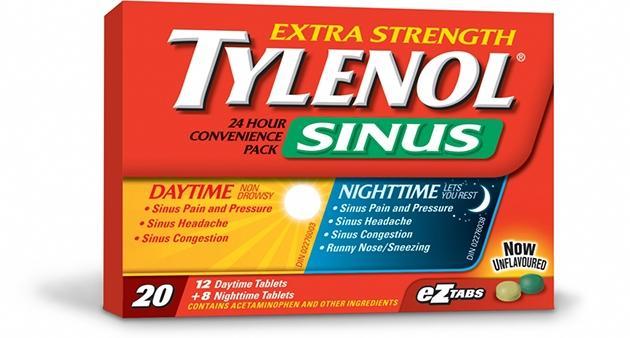 Extra Strength TYLENOL® Sinus Daytime & Nighttime EZ Tabs