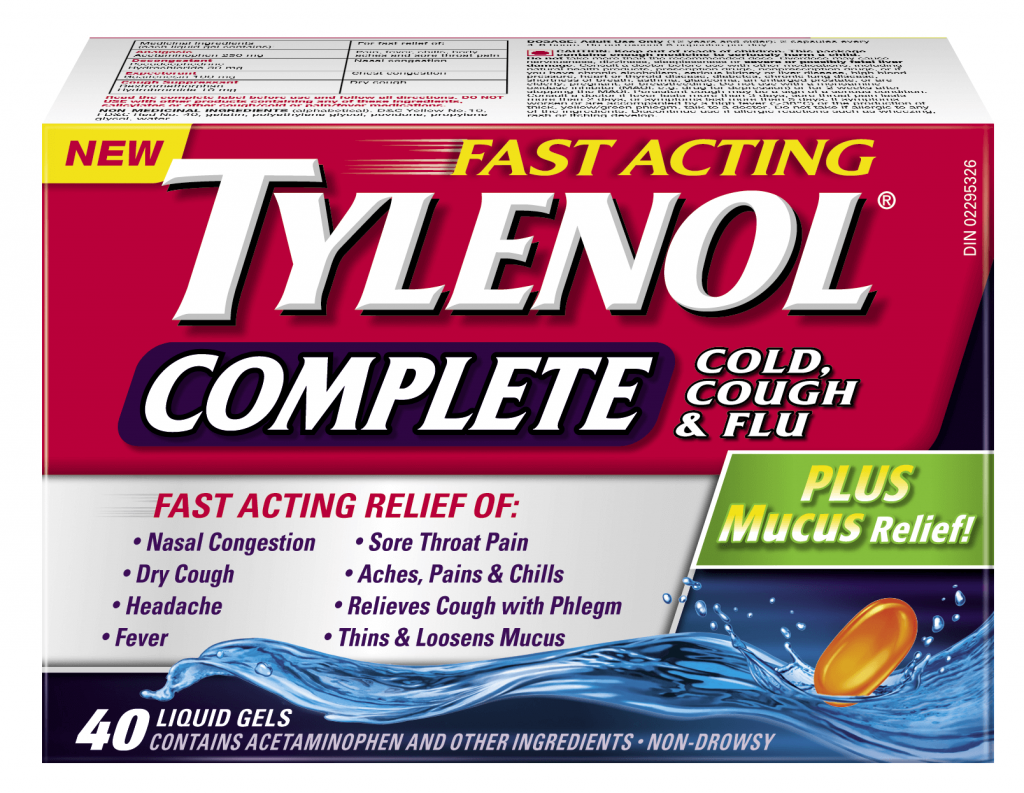 TYLENOL® Complete Cold, Cough & Flu Plus Mucus Relief