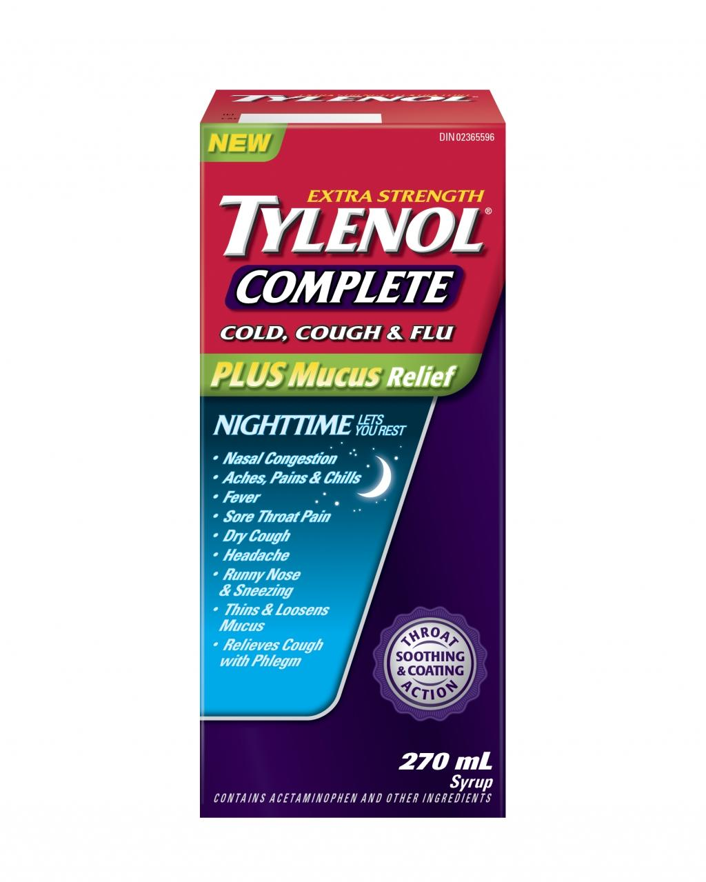 Extra Stength TYLENOL® Complete Cold, Cough & Flu Nighttime Syrup