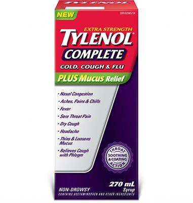 Extra Stength TYLENOL® Complete Cold, Cough & Flu Syrup