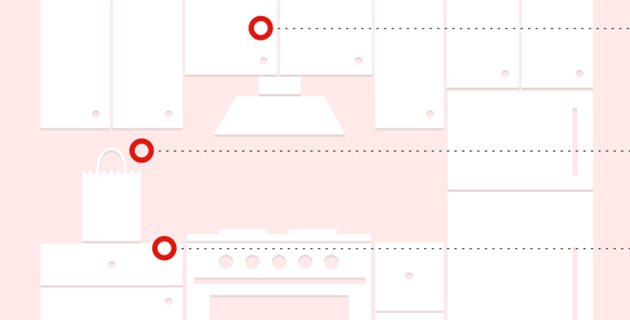 Kitchen infographic for Tylenol storage