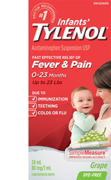 Infant's Tylenol for Fever and Pain packaging